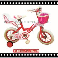 Mädchen-Fahrrad- / Baby-Zyklus- / Kinderfahrrad mit Korb für amerikanischen Markt
