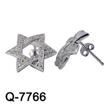 New Design 925 Sterling Silver Earring Studs White CZ