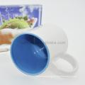 Sunmeta 11oz sublimation inner color mug light blue