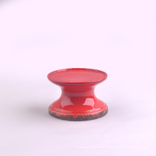 Vintage Red Ceramic Candle Stands