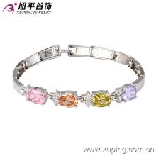 China Wholesale Xuping Fashion Elegant Zircon Rhodium Color Bracelet