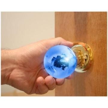 Chrome Privacy Door Knob with LED Mixing Lighting