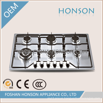 Kitchen Equipment Built in Cast Iron Gas Cooker Gas Cooktop