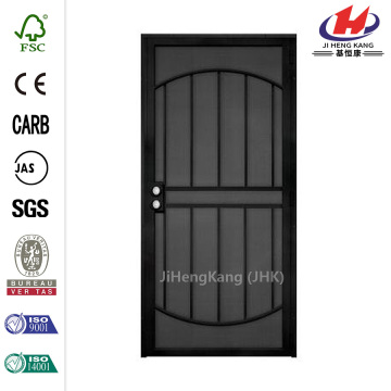 Black Surface Mount Outswing Steel Security Door