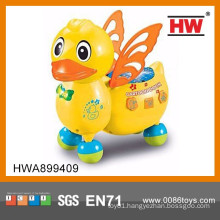 New Design Colorful B/O Music Duck Cartoon Animal for Kids