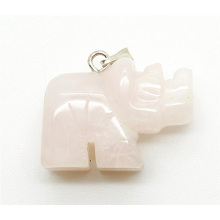 Rhombus Shape Rose Quartz pendant