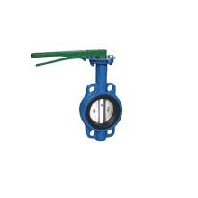 Worm gear wafer butterfly valve butterfly valve