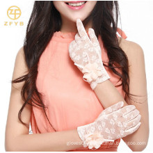 2014 new fashion wedding lace gloves for girls