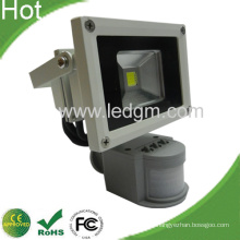 Montado en la pared de luz PIR 10W inundación llevó al aire libre inundación luces IP65 3 años de garantía