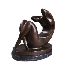 Statue en laiton abstraite femme nue sculpture sculpture en bronze Tpy-186