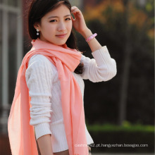 Xaile de lã Merino refinado em cor sólida