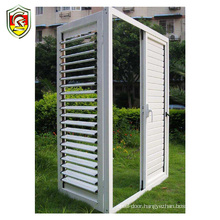 China supplier custom high quality commercial material aluminium alloy frame window shutters outside