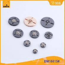 Forma redonda personalizada metal sewing botões snap para casaco BM10815