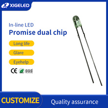 Promise double chip yellow-and-green 3mm led lamp beads