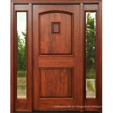 Puertas de madera maciza de caoba con ventana lateral de vidrio transparente (SC-1005)