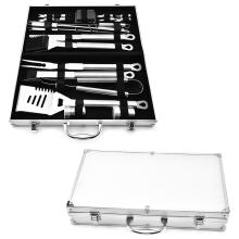 21PCS Edelstahl BBQ Set mit Aluminiumgehäuse