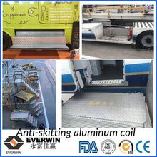 Five Bar Embossed Aluminium Sheet / Coil Loopplaat