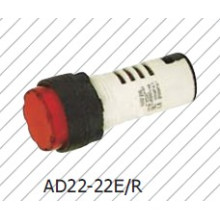 Lâmpada Piloto Vermelho 22mm Sinal Luz Iindicador Lâmpada Bule Amarelo Branco Verde
