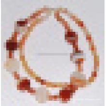 Art und Weise natürliche Kristallstein-Achat-Korn-reizend Halsketten-Schmucksachen