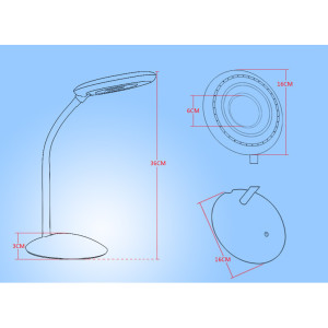 6W Round Series LED Lampadaire