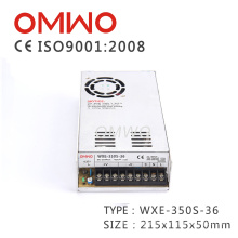 Fonte de alimentação do modo 350W 36V do interruptor do caso do metal Wxe-350s-36