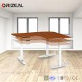 Ergonomic Electric Height Adjustable Standing Desk Frame Office Table