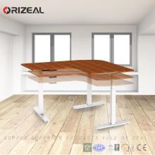 Mesa de escritório ergonómica elétrica altura ajustável mesa de escritório