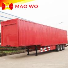 Semi remolque de furgoneta de carga de caja resistente de 60 toneladas