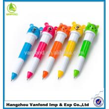 Vender caliente pluma de gato / bolígrafo Flexible plástico bolígrafo