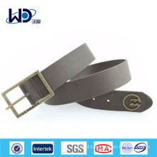 Basic Style Single Pin Buckles Men Wide Belts