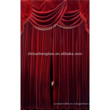 China proveedor terciopelo rojo negro etapa cortinas de fondo