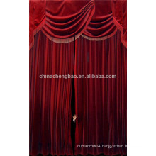 China supplier red velvet black stage background curtains