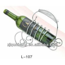 Estante para vino de metal tipo piano, soporte para vino / estante