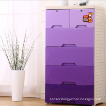 Fashion Purple PP Drawer Storage Cabinet (206027)