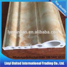 décoration d'intérieur ligne de marbre artificiel PVC