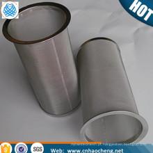 Café ou Chá Grau Alimentício 100 malha de 150 mícrons de Aço Inoxidável Fria Brew Coador de malha de café Cilindro de chá Filtro Tubo Infusor