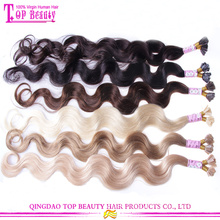 Fashion color good feedback human hair italian keratin hair extensions
