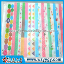 New pvc white gloss sticker for kids from factory