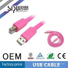 Sales promotion! SIPU colorful 2.0 usb data cable flat cable with good performance 30cm 1m 3m 5m