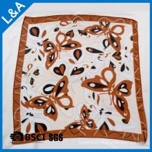 Echarpe carrée en polyester de 75 D en mousseline de soie