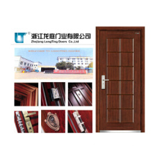 Porte blindée en matériau composite acier-bois