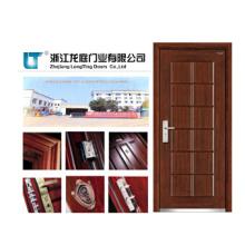 Porta blindada interior de aço-madeira do material composto