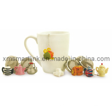 Infusseur de thé décoratif, filtre à thé en acier inoxydable