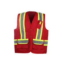 CSA Z96-09 standard certification reflective vest safety vest with pockets for Canada market 300D oxford with durable beanbags