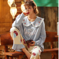 Conjunto de pijamas de algodón de manga larga para mujer