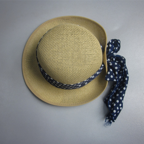 Cheap Woman Round Top Straw Hat