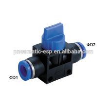 Válvulas pneumáticas populares da mão dos encaixes com vário modelo HVFF