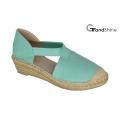 Women′s Canvas Espadrille Wedge Shoes