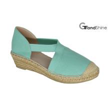 Frauen-Segeltuch-Espadrille-Keil-Schuhe