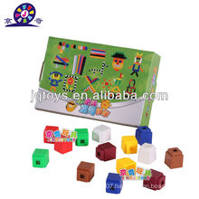 JQ1089 New Style Preschool Educational Plastic Colorful Square Puzzle Blocks